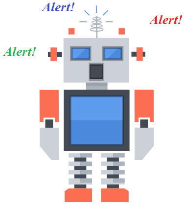 warning robot picture